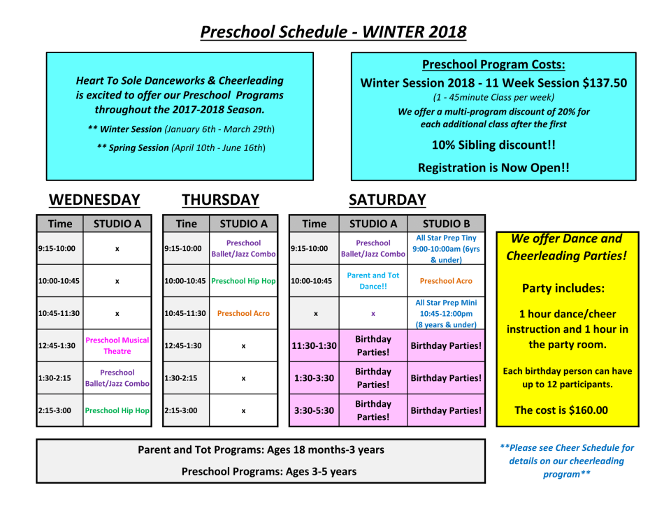 preschool-dance-schedule